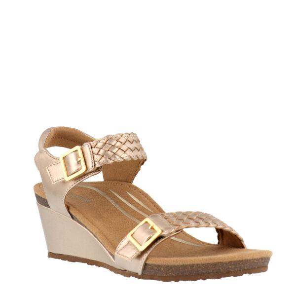 Aetrex Grace Wedge 3-Strap Sandal